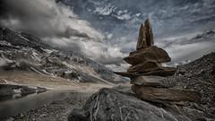 Gletscherseeli II (Dani Maier) Tags: spiringen uri schweiz ch klausenpass berge alpen see bergsee wolken gletscher steine steinberg steinhaufen