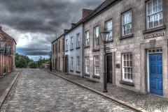 Cluan Place (Foulridge_Photography) Tags: northernireland cultra ulsterfolkmuseum street cluanplace sky clouds cobbles gaslamp nikond5000