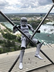 Hanging on for dear life on the Skylon Tower Niagara Falls Canada. (chevy2who) Tags: figure action blackseries starwars falls niagara canada toyphotography toy stormtrooper inch six series black wars star