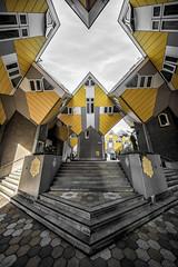 Rotterdam Kubuswoningen (Steven Dijkshoorn) Tags: kubuswoningen kubuswoning geel architecture architectural rotterdam 010 rotjeknor travel important