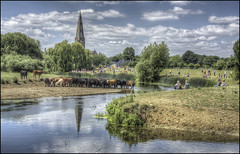 Olney Raft Race Day (Darwinsgift) Tags: olney raft race day 2017 bucks buckinghamshire england voigtlander 58mm f14 nokton hdr photomatix nikon d810