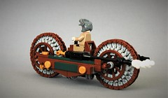Steampunk  motorcycle - The gentleman (adde51) Tags: adde51 lego moc steampunk motorcycle gentleman vehicle vehicles mc aristocrat wheel technique illegal