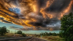 Evening ride (Ales Kladnik) Tags: evening clouds road trip ride driving orange sunset red croatia