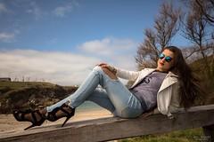 Leti Varela en Coruña (Dani_vr) Tags: women cantante singer sunglasses gafas coruña galicia playa beauty beach
