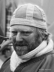 The Viking merchant (wouters.eddy) Tags: monochrome black white portrait viking lagertha sweden scandinavia history foteviken nikon