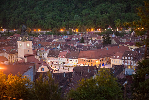 Brasov at evening ©  Andrey