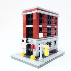 Mini 75827 - Firehouse Headquarters (Adeel Zubair) Tags: architecture headquarters firehouse 75827 marcosbessa microscale minimodulars ghostbusters lego