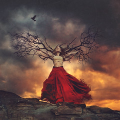 haunted wings (brookeshaden) Tags: brookeshaden fineartphotography compositing photoshop speededit branches treewings stickwings branchwings queen fairytalephotography surrealphotography whimsicalphotography