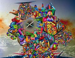 Cité atmosphérique Kodabmé (Alexandre Poulin-Giroux) Tags: cité astral atmosphere champignon explosion city coloré colorful infinite infini odyssée big magistral powerful planétaire
