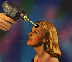 polarity. (// P*) Tags: collage art vintage retro drilling woman