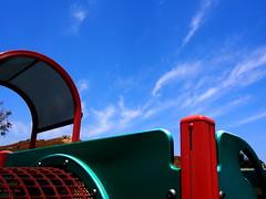 P5300563 (photos-by-sherm) Tags: corona ca california spring public park playground swings jungle gym slides