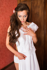 Vilma (Tomas Ramoska) Tags: wedding bride groom photography girl getting ready bridal preparation burton upon trent red white