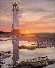 Perch Rock (karlpage) Tags: sunset wirral newbrighton perchrock lighthouse