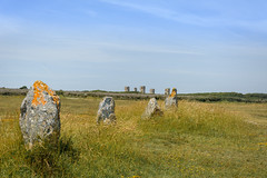 Menhirs and Manor (stevefge) Tags: bretagne brittany france menhirs penhir landscape houses stone ancient coast reflectyourworld