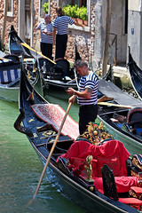Gondolier apping ((( n a t y ))) Tags: veince venezia italy europe destinations lonelyplanet gondola gondolier holidays trip travel wanderlust canal city urban streetphotography photography people tattoo sea veneto beautiful culture boats canon eos6d portraits queen adriatic lagoon venetian mobile app technology smartphone funny funnymoments moments candid