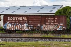 (o texano) Tags: houston texas graffiti trains freights bench benching ghoul ghouls hindu hindue a2m adikts d30 wh sws gtb