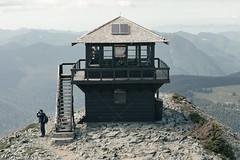 Fire Lookout (pseudonoise) Tags: field mountain hike watchtower hut green lookout seattle rainier washington