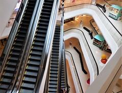 escalators and voids (SM Tham) Tags: asia southeastasia thailand bangkok ploenchit centralembassy shoppingmall building interior atrium void escalators circulation floors balustrades dynamism movement