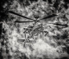 Apache on the attack (Andy J Newman) Tags: apache gunship helicopter yeovilton airshow nikon d500 silverefex dramatic explosion