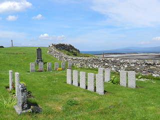 HMS Curacoa Commonwealth War Graves, Ashaig Cemetery, Breakish, Isle of Skye, May 2017
