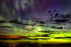 Colorful skies (LostOne1000) Tags: night pentax2470f28edsdm solarlight stars upperpeninsula pentaxk3ii clouds aurora pentax cloud michigan sky solarstorm unitedstates mouthofthehuron lakesuperior colors skanee us