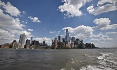 Heading Upriver (tim.perdue) Tags: nyc new york city vacation big apple metropolis urban manhattan hudson river water cruise circle line boat heading upriver skyline sky lower downtown wide angle
