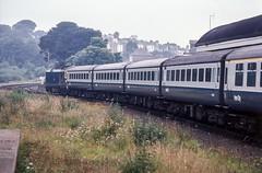 Summer Saturday sojourn (Nodding Pig) Tags: falmouth cornwall railway station train england greatbritain uk 1978 class50 dieselelectric locomotive englishelectric type4 50016 barham film scan transparency kodachrome64 pentaxsp1000 3105r101