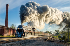 Steamy Goodness (ryanmarkham20) Tags: train railroad steam engine sunrise outdoors