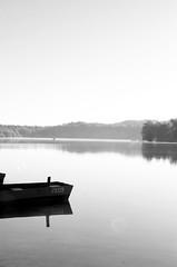 Effacement (saraphotospassion) Tags: lac barque noir blanc effacement claire paisible triste paix