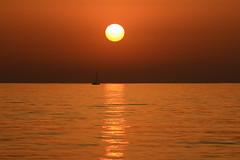 Sailing at sunset - Tel-Aviv beach (Lior. L) Tags: sailingatsunsettelavivbeach sailing sunset telaviv beach sea seascapes sailboat silhouettes sun reflection travel travelinisrael israel telavivbeach