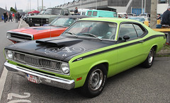 Duster 340 Wedge (Schwanzus_Longus) Tags: street mag show hamburg german germany us usa america american old classic vintage car vehicle muscle coupe coupé plymouth duster 340 wedge