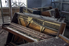 The Day the Music Died, Pripyat (Sean Hartwell Photography) Tags: pripyat chernobyl abandoned decay nuclearaccident meltdown radiation radioactive piano shop urbex 1986 ukraine