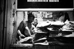 """The brave and the bold"" - INA Market Delhi (Sebastian (sibbiblue)) Tags: documentary india delhi acros fuji blackandwhite"