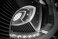A Girl Named Disillusionment (Thomas Hawk) Tags: america chicago cookcounty illinois josefpaulkleihues kleihues mca museum museumofcontemporaryartchicago usa unitedstates unitedstatesofamerica architecture artmuseum bw staircase stairs contemporary art fav10 fav25 fav50 fav100