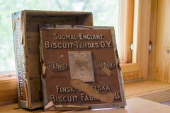 Igor museo, biscuit box (visitsouthcoastfinland) Tags: visitsouthcoastfinland degerby igor museum museo finland suomi travel history indoor