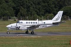 F-GEXV   FAB/EGLF  20.6.17 (Eric.Denison) Tags: fgexv beech a100 be10 kingair farnborough fab eglf