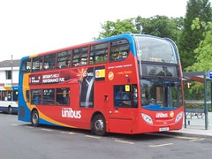 Stagecoach Unibus 10034 at Warwick University bus station (Tom Burnham) Tags: uk warwickshire coventry bus kx12gxc enviro400