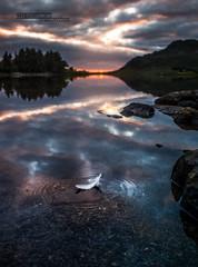Midnight sun at Lofoten (Mythologica photography) Tags: midnight sun lofoten lofotr viking museum sunset sunrise landscape norway europe scandinavia white night fiord sea island valkirie angel magic