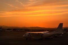 Window Seat, please (George Plakides) Tags: aeroplane airport larnaca sunset