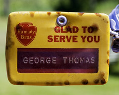 1966-68 name tag (hz536n/George Thomas) Tags: hamadyhamady brosname tagcanoncanon 5def 100mm f28l macro is usm michigan summer copyright cs6 upnorth