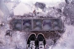film (La fille renne) Tags: film analog 35mm lafillerenne canonae1program 50mmf18 fujifilm fujisuperiaxtra400 oslo norway street butterflies snow