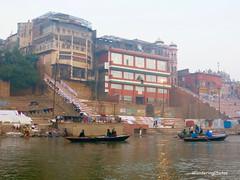 Bathing & Dhobi Ghats on the River Ganges - Varanasi Uttar Pradesh India (WanderingPhotosPJB) Tags: flickruploaded india uttarpradesh varanasi river ganges ganga ghats bathing hindu hinduism