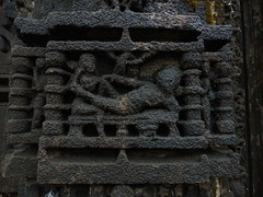 Carving on Amruteshwar Temple (rajkumardongare) Tags: architecture stoneart carving ancient amruteshwar temple amruteshvar bhandardara ratangad ratanwadi ratanvadi kajava mohotsav kajawa