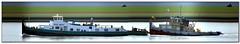 Zeetijger + Vogel Gryff (Morthole) Tags: slitscan vogelgryff zeetijger ship boat schip boot barge binnenvaart schiff rheinschiff zeetijgervogelgryff towboat duwboot schubboot poussage