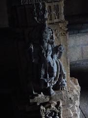 Wallart on pillars of Amruteshwar Temple (rajkumardongare) Tags: amruteshwar temple ratangad ratanwadi bhandardara ratanvadi amruteshvar stonework stoneart carving art wallart historic history zanj king jhanj