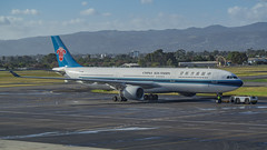 China Southern Airlines A330-300 B-8358 (Anthony Kernich Photo) Tags: b8358 chinasouthern chinasouthernairlines csn angle view airplane aircraft airplanepicture airplanephotograph airplanephoto adelaide adelaideairport zoom longlens plane aviation jet olympusem10 olympus olympusomd commercialaviation planespotting planespot aeroplane flight flying airline airliner kadl kpad adl airport raw widebody airbus airbusa330 a330 a330300 pushback
