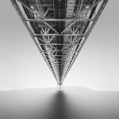 Reach (Rohan Reilly Photography) Tags: japan bridge monochrome bw minimal architecture square landscape fineart kinsalegallery