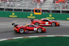 Ferrari Challenge (scienceduck) Tags: scienceduck 2017 montreal f1 formulaone formula1 racing quebec canada canadiangrandprix canadiangp canadagp canadagrandprix circuitgillesvilleneuve îlenotredamecircuit june pan panning ferrarichallenge ferrari