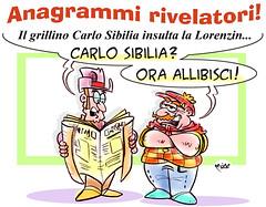 """Anagrammi Pentastellati (Moise-Creativo Galattico) Tags: editoriali moise moiseditoriali """"editorialiafumetti"""" giornalismo attualità satira vignette m5s anagrammi sibilia"""