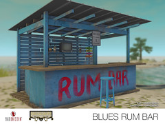 NEW! Blues Rum Bar in July's Deco(c)rate (Bhad Craven 'Bad Unicorn') Tags: decocratesl decocrate caribbean rum bar blue red beach stool shack bhad • craven second 2l life lindens profile picture photography bad unicorn badunicorn clothing buc bu secondlife graphics gfx graphic design photos pics photo sl urban mesh exclusive store blog fashion shadows high quality production portrait image hd definition original meshes meshed 3d game characters art gaming concept concepts new top work progress wip shanty